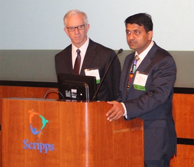 Drs Michael Lobatz and Harish Hosalkar taking audience questions