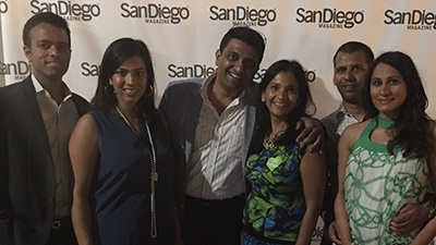 Members of SAPI (San Diego Association of Physicians of Indian Origin) with spouses attending the 'Best of San Diego' event at NTC Venues at Liberty Station on August 21, 2015