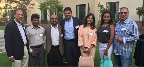 SAPI President Dr Hosalkar with many of the SAPI members and well-known physicians in the San Diego community at the SAPI-TiE event in Carlsbad, June 20th, 2015